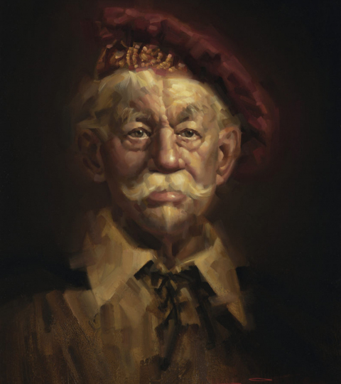 Duke of Venice, oil on canvas. This painting was inspired by a character from Shakespeare.