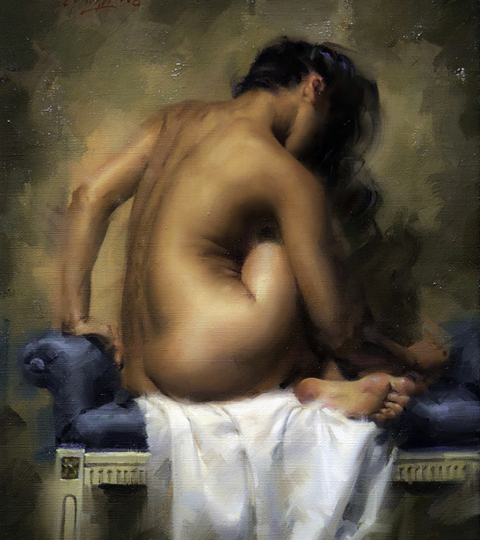 Secret, oil on canvas, Charles Miano