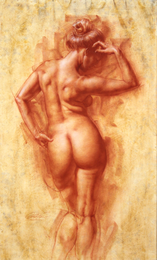 Female figure from behind
