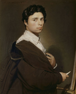 Self Portrait by Jean Auguste-Dominique Ingres.