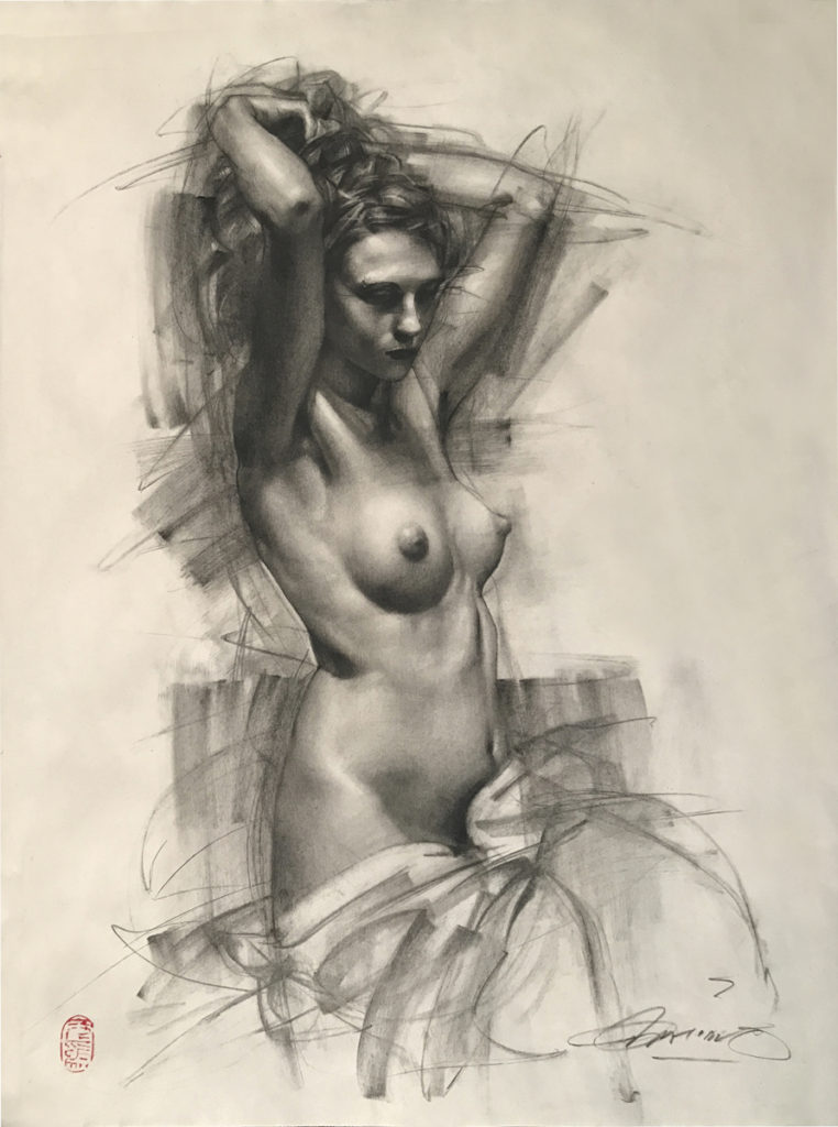 figure drawing by Charles Miano