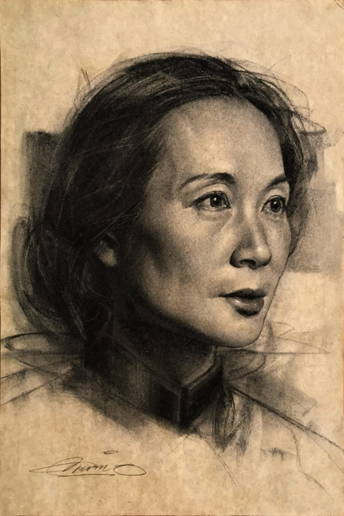 Charcoal Portrait by Charles Miano