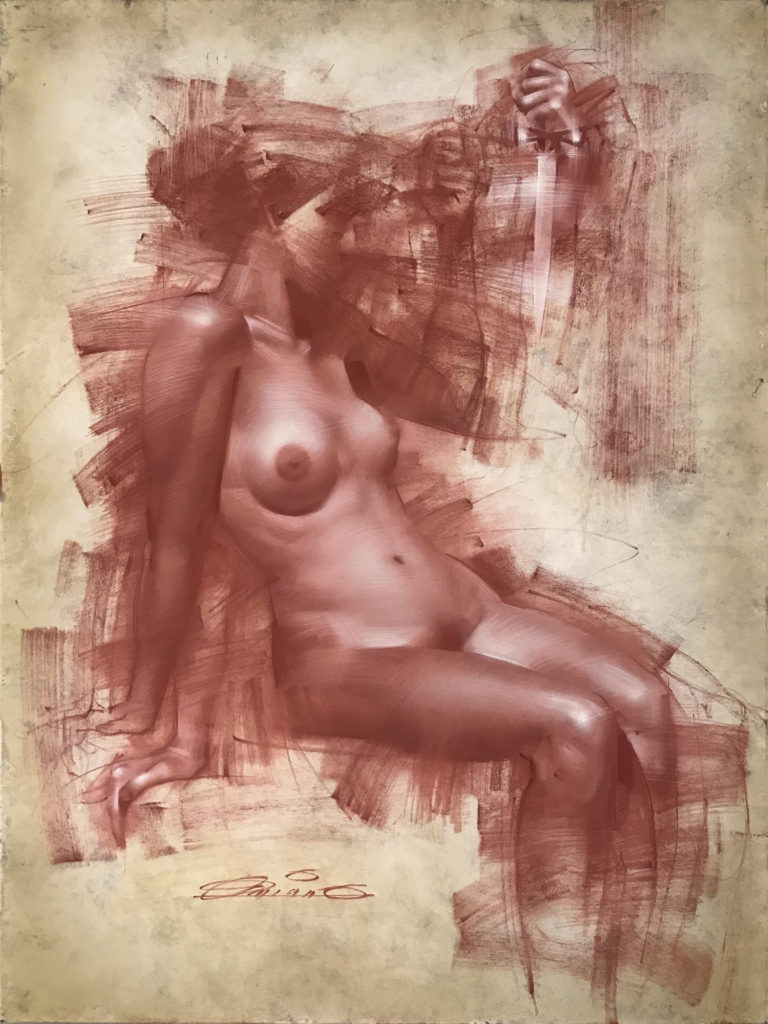 Figure study by Charles Miano