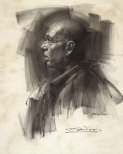 Charcoal Drawing by Charles Miano