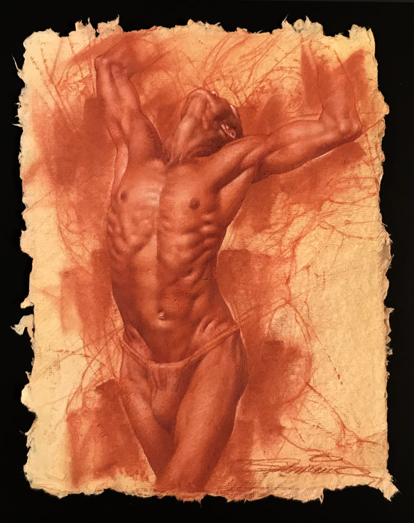 Red-Chalk figure study by Charles Miano